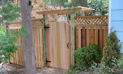 wood custom fence centerville va